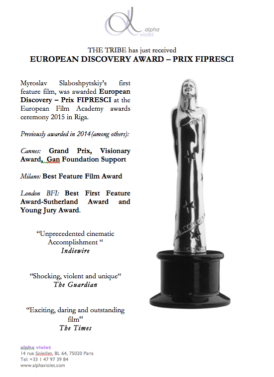 THE TRIBE: EFA's European Discovery award – Prix FIPRESCI 1